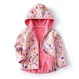 Feidoog Toddler Polar Fleece Jacket HoodedBaby Boys Girls Autumn Winter Long Sleeve Thick Warm Outerwear,Pink,5-6T