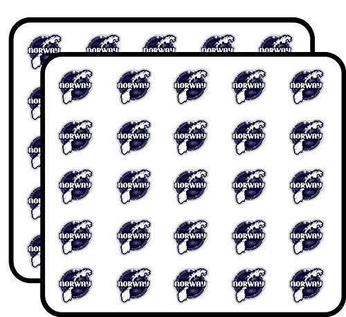 Noorwegen Kaart Grunge Stempel Vinyl Stickers Grappige Leuke Voor Kinderen DIY Ambachten Scrapbooking, Laptop, Bumper Auto Stickers, Stickers voor Kinderen, 50 Pack
