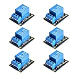 YIENOKEP 6 pièces 5 V carte de relais Module de relais 1 canal opto-isolé pour ARM PIC AVR MCU Raspberry Pi