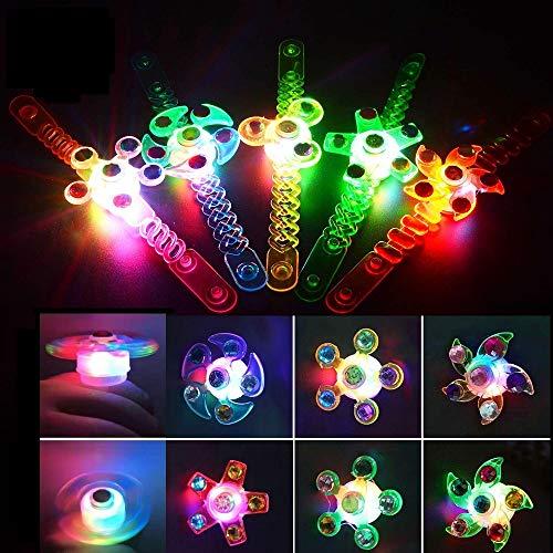 G 16pcs LED Leuchtspielzeug Fingerlichter Fingerring LED Blinkleucht Armband Leuchtend LED Bunt Fingerlichter Ringe für Finger Mitgebsel Kindergeburtstag Gastgeschenke