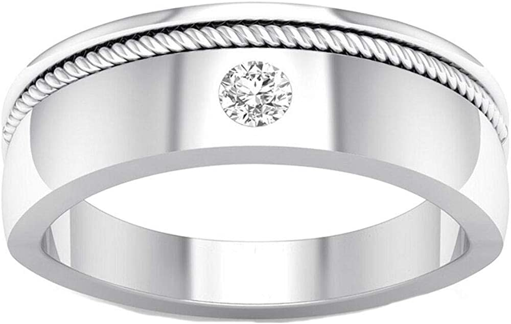 Silver Gems Factory Men's 14K White Round All items in the store Gold Cut Alloy Cheap Plated