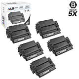 LD Compatible Toner Cartridge Replacement for HP 51A Q7551A (Black, 5-Pack)