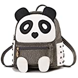 Panda Backpack for Girls and Boys Cute Waterproof Leather Small Travel Bag Adorable Gift for Kids, Cinnamon