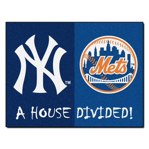 FANMATS 12253 MLB House Divided Nylon Face House Divided Rug