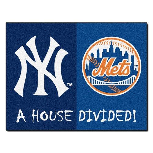 FANMATS 12253 MLB House Divided Nylon Face House Divided Rug