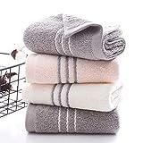 Juegos de Toallas 3 Toallas de Mano Toallas de baño 34 * 74 cm Toallas de algodón 100% Rosa,...