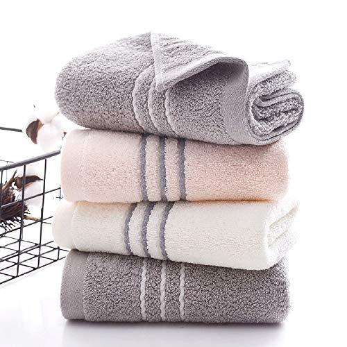 Set di Asciugamani 3pezzi 100% Cotone Asciugamani 34 * 74 cm Asciugamani Viso-mani Teli da Bagno Rosa, Bianchi, Grigi Asciugamani per Il Lavaggio del Viso per Bagno, Cucina