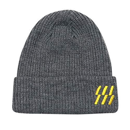 작은 아이들이 겨울 따뜻한 모자 JCHEN(TM)아기 아 소년 겨울 따뜻한 뜨개질 모자 보네 크로 셰 따뜻한 모자를 위해 1 6 세(회색)