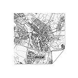 Poster - Utrecht Stadtplan - 50x50 cm