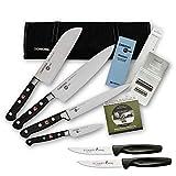 Chroma Azubi Messer Set TOP PRICE Japanchef Start-01new plus 2 x SCHARFsinnig Pizza- und Steakmesser