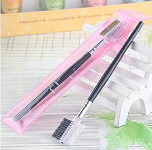 Double Peigne Extension Brosse Outils De Maquillage Pratique Multifonctions Sourcils Cils Brosses Femmes Fille Beauté Combs 1pc