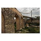 Puente de 1000 piezas de la bimilenial en Elche, puentes antiguos e imágenes Rompecabezas de piezas grandes para adultos Juguete educativo para niños Juegos creativos Entretenimiento Rompecabezas de m