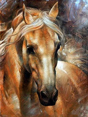 Animal diamante pintura 5D caballo taladro completo redondo diamante bordado diamantes de imitación pintura decoración del hogar regalo A5 50x70cm