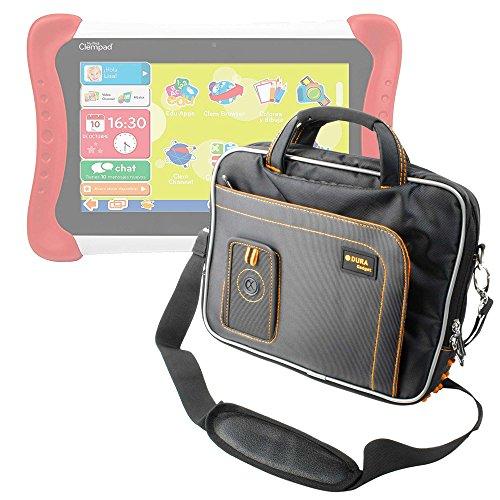 DURAGADGET Maletín para Tablet para niños Clementoni - Mi Primera Clempad Dual Core (55001) - En Color Negro Y Naranja