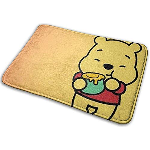 N/A zacht tapijt ingang mat stijlvolle Winnie de Poeh eten honing ontwerp voor Patio, voordeur, badkamer, balkon