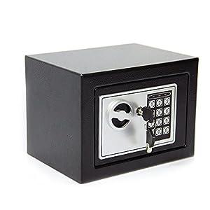 CDC® 4.6L DIGITAL STEEL SAFE ELECTRONIC SECURITY HOME OFFICE MONEY CASH SAFETY BOX 2 KEYS