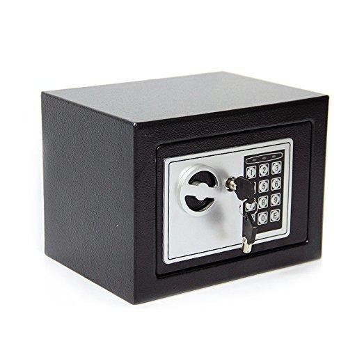 CDC Safe / Tresor, 4,6l, digital, Stahl, elektronische Sicherheit, für das Home-Office, zur Verwahrung von Geld, 2Schlüssel