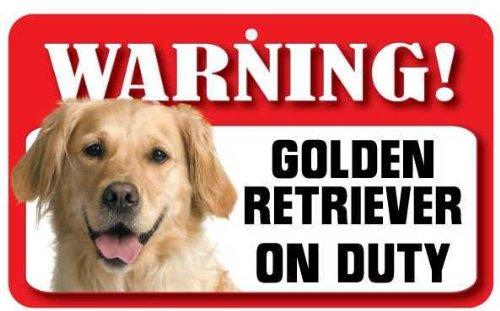 Panneau pour chien Golden Retriever – en carte lustrée