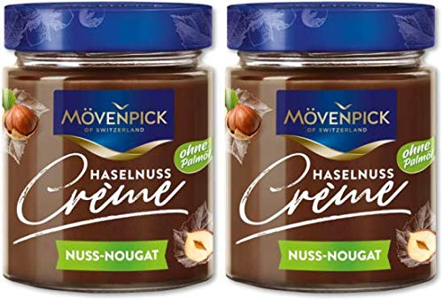 Mövenpick Brotaufstrich Haselnuss Creme Nuss & Nougat ohne Palmöl 2x300g