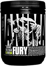 Animal Fury Pre Workout Powder Supplement – Energize Your Workout With More Focus, Energy, Endurance and Pumps, Green Apple - 20 Servings