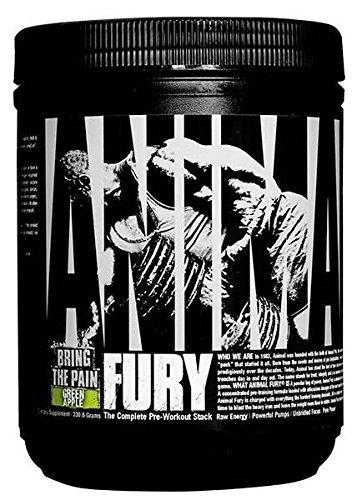 Universal Nutrition Animal Fury Pre-Workout Booster Trainingsbooster 320g (Green Apple - Grüner Apfel)