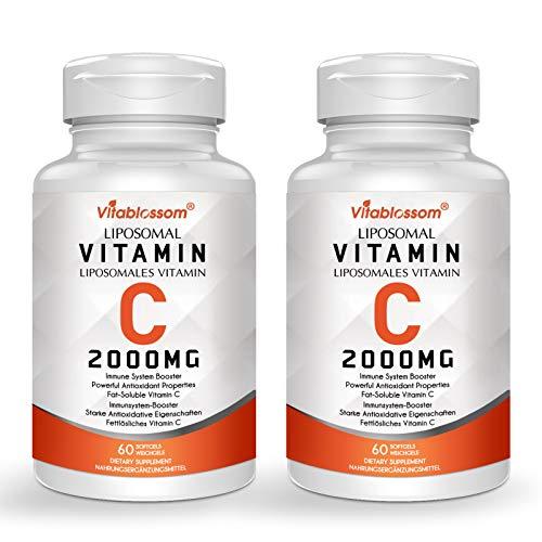 Überlegene Absorption Liposomales Vitamin C, Nicht GVO (2 Flaschen)