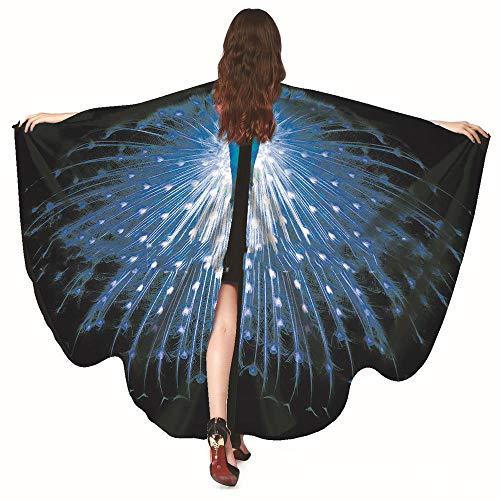 Xinxin24 Dames vlindervlegel sjaal Vrouwen Nymph Poncho kostmbehr vlinder kostm carnaval tegel sjaal volwassenen poncho omhang voor feestjes Cosplay carnaval
