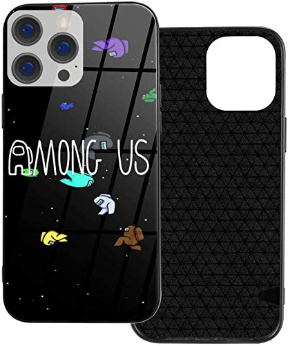 Among Us iPhone 12 Pro Funda, Slim TPU & Galss Funda protectora compatible con iPhone 12 Pro/iPhone 12/iPhone 12 Mini/iPhone 12 Pro Max