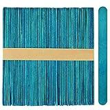 1,000 Standard Size Wood Craft Sticks Natural Popsicle Stick (Blue)