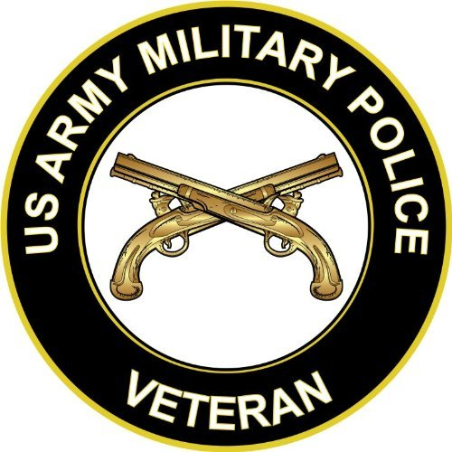 3.8' US Army Military Police Veteran Decal Sticker