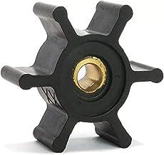 Jabsco 6303-0003-P, Nitrile, Drive Type 4, 6 Blade, 2 Diameter, 7/8 Width, 5/16 Shaft, Plastic Insert, Black