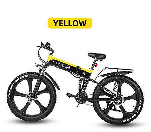 51A8cXGYR0L - ride66 e Bike Mountainbike elektrofahrrad klapprad 26 Zoll Doppelbatterie 1000W ebike für Damen Herren