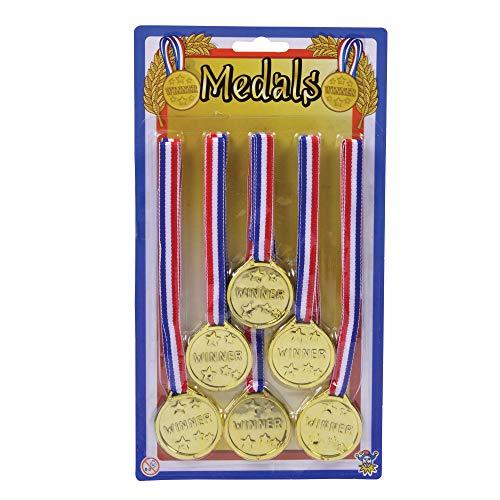 Winners Medals (6 Per Card), Fancy Dress, Accessory