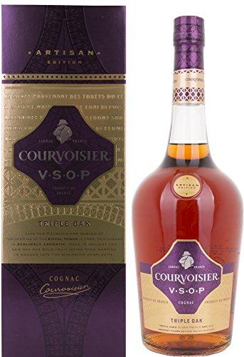 Courvoisier VSOP Edición Artesanal Triple Oak Cognac Caja de Regalo - 1000 ml