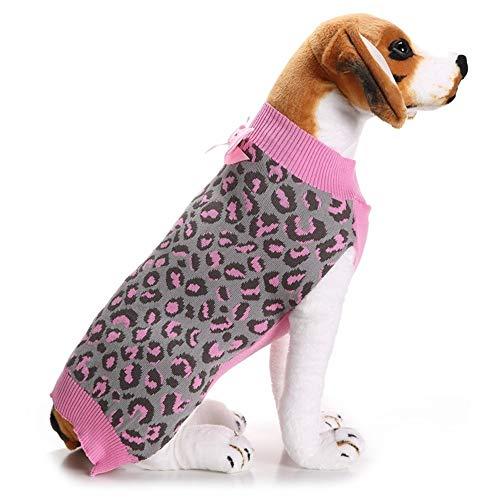 Eyxia-Pet-Master Winter-Hundekleid Welpen-Winter-Strickwaren-Strickjacke Princess Mädchen Hunderosa Haustier-Strickjacke Pet Supplies (Size : XXS)