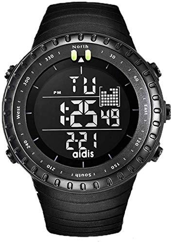 Hombres s Digital Deportes Reloj Al Aire Libre Electrónico Reloj Luminoso Impermeable Reloj Alarma Cronómetro Podómetro Multifuncional Moda Casual Relojes