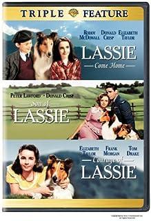 Lassie Come Home Movie (1943) Elizabeth Taylor Roddy McDowell - Son of Lassie/Courage of Lassie -3 Classic Film Triple Fea...