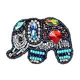 FENICAL Parche de Elefante Hecho a Mano Coloridos Granos de Diamantes de...