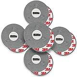 mumbi Magnetbefestigung für Rauchmelder, für glatte Flächen, nicht für Rauhfaser oder losen Putz, Ø70mm (5-er Set)