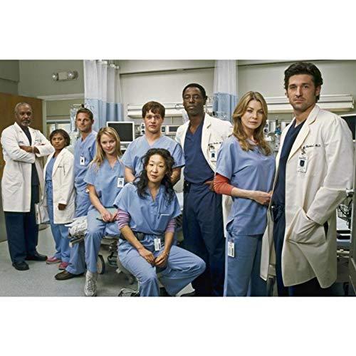NOVELOVE Grey's Anatomy Medicine TV-Serie Poster Leinwand HD-Drucke Malerei Kunst Wandbilder Wohnzimmer Wandbild Wohnkultur (40 * 60cm) Ohne Rahmen