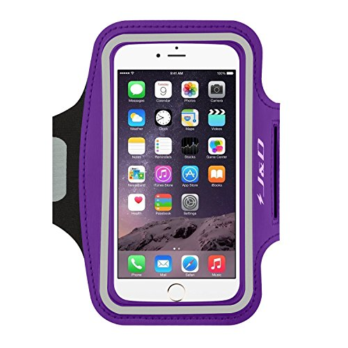 J&D Armband Compatible for iPhone 12 Mini/iPhone 11 Pro/iPhone 7/iPhone8/iPhone 6/iPhone 6S / iPhone SE 2020 Armband, Sports Running Armband with Key Holder Slot, Earphone Connection