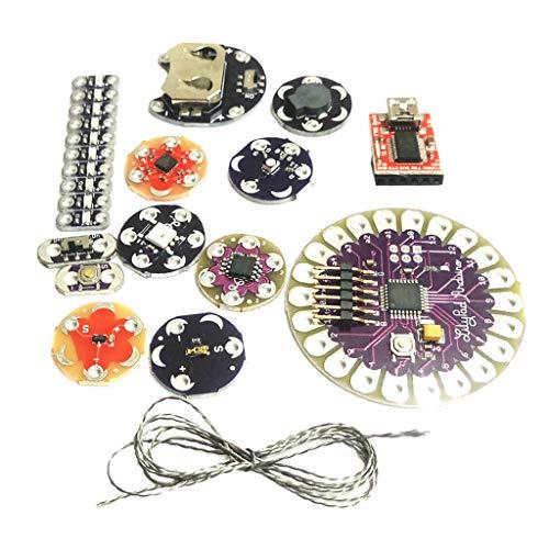 Homyl Lilypad Arduino Kit Tragbare, Abnehmbare Elektronik Leds ATmega328P