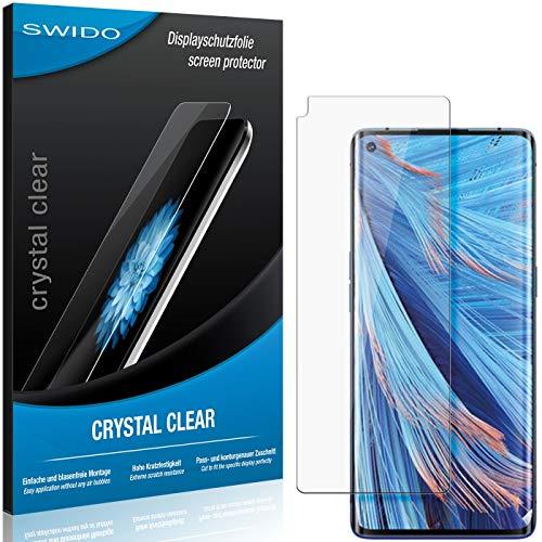 SWIDO Schutzfolie für Oppo Find X2 Neo [2 Stück] Kristall-Klar, Hoher Festigkeitgrad, Schutz vor Öl, Staub & Kratzer/Glasfolie, Bildschirmschutz, Bildschirmschutzfolie, Panzerglas-Folie