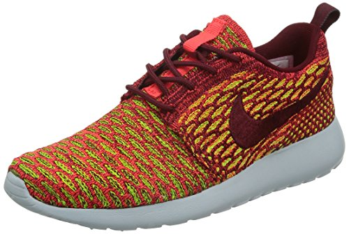Nike Women's WMNS Roshe One Flyknit Fitness Shoes, Red (Team Red/Team Red-Bright Crimson-Volt), 5.5 UK
