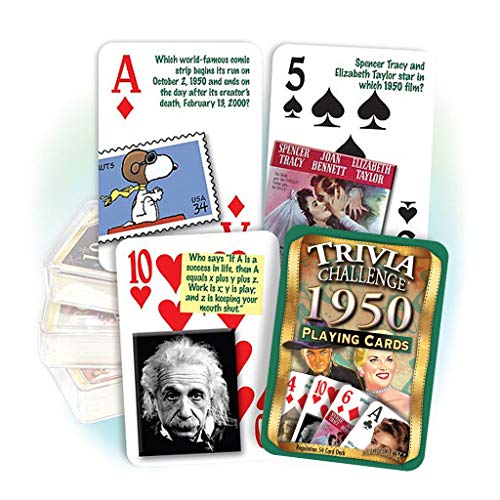 1950 Trivia Playing Cards - Fun Gift for 70 Year Olds!