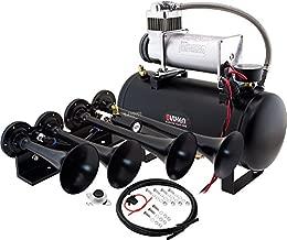 Vixen Horns Train Horn Kit for Trucks/Car/Semi. Complete Onboard System- 150psi Air Compressor, 2 Gallon Tank, 4 Trumpets. Super Loud dB. Fits Vehicles Like Pickup/Jeep/RV/SUV 12v VXO8560/4124B