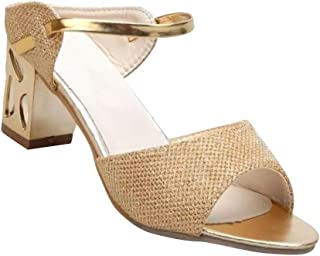0932ae3021f643 uirend Womens Shoes Sandals - Ladies Glitter Sequin Sandal Court Peep Toe  Party Evening Shoe Summer