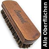 Spazzola PREMIUM per pelle e tessuti - Extra delicata - Facile cura e pulizia - Spazzola di pulizia per tappezzeria, pelle, Alcantara, similpelle, capote, interni auto.