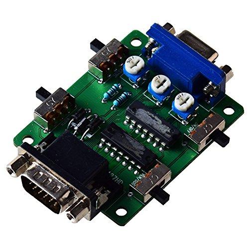 Mcbazel Línea de escaneo Generador de Efectos de Video Generador de escaneo Conexión VGA para Todos los Juegos Retros/Jugadores/Mame/Arcade/Emulator