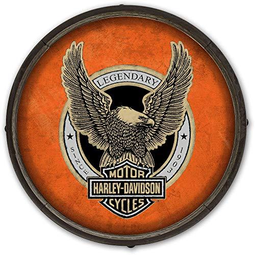 Harley Davidson Barrel End Schild Adler